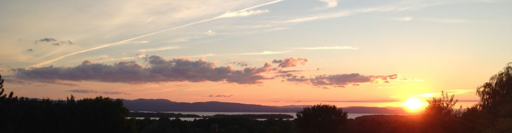 lake champlain sunset