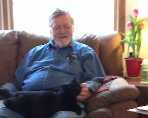 steve with kitty